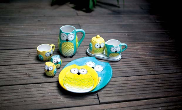 Wide eyed Owl platter from Chumbak at Rs 995.